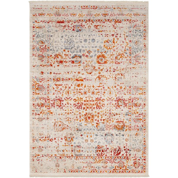 Mendelsohn Vintage Persian Traditional Red/Cream Area Rug by Three Posts