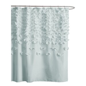 gray and teal shower curtain.  Shower Curtains Joss Main