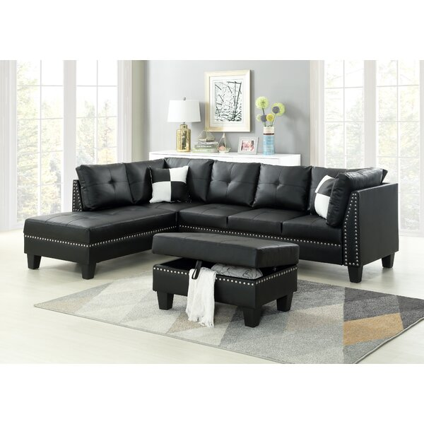 Keytesville Sectional Sofa with Ottoman by Winston Porter