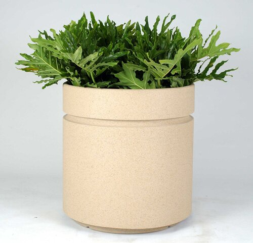 Boulevard Plastic Pot Planter by Allied Molded Products