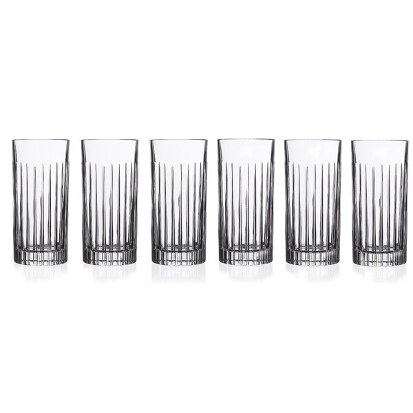 Timeless RCR 16 oz. Crystal Highball Glass (Set of 6) by Lorren Home Trends