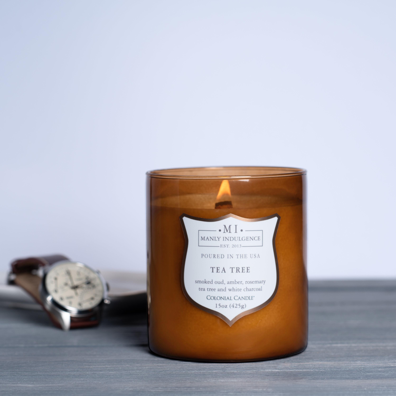 Manly Indulgence Signature Tea Tree Scented Jar Candle Wayfair