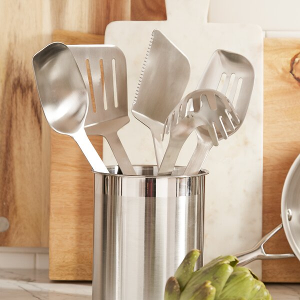 Stainless Steel Utensils 6 Piece Utensil Set by Ca
