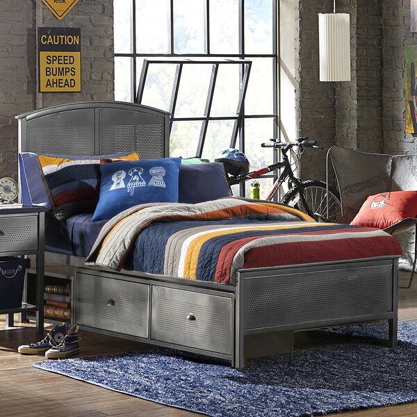 Albert Panel Bed with Drawers by Viv + Rae