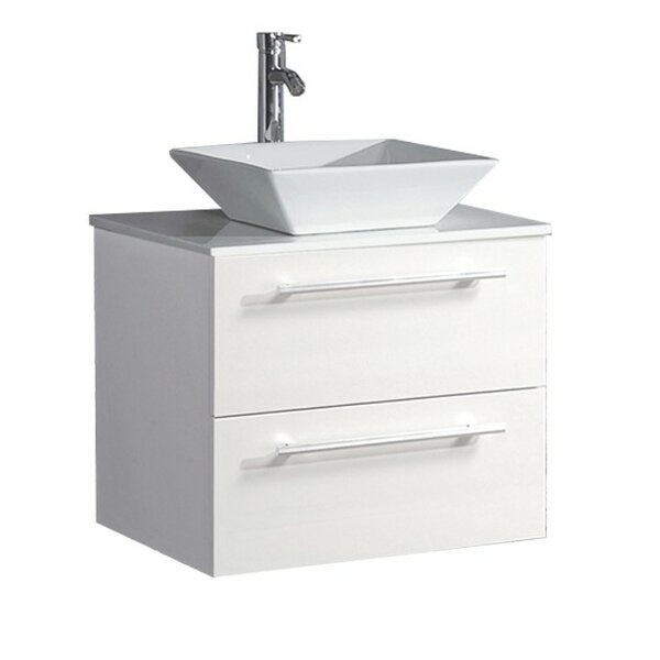 Govea Wall Mounted Modern 24 Single Bathroom Vanity Set by Ivy Bronx