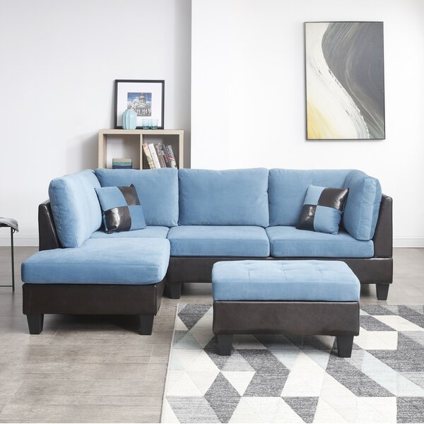 Almus Reversible Modular Sectional with Ottoman by Winston Porter