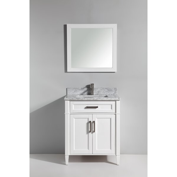 Lachine Marble 30 Single Bathroom Vanity with Mirror by Gracie Oaks