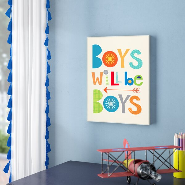 Stella Boys will Be Boys with Arrow Wall Plaque by Viv + Rae