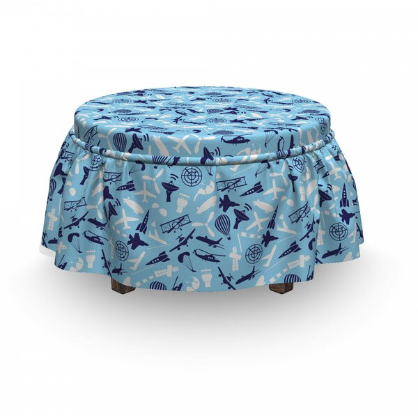 Aerial Crafts Ottoman Slipcover (Set Of 2) By East Urban Home