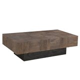 Kristy Solid Wood Pedestal Coffee Table by Loon Peak®
