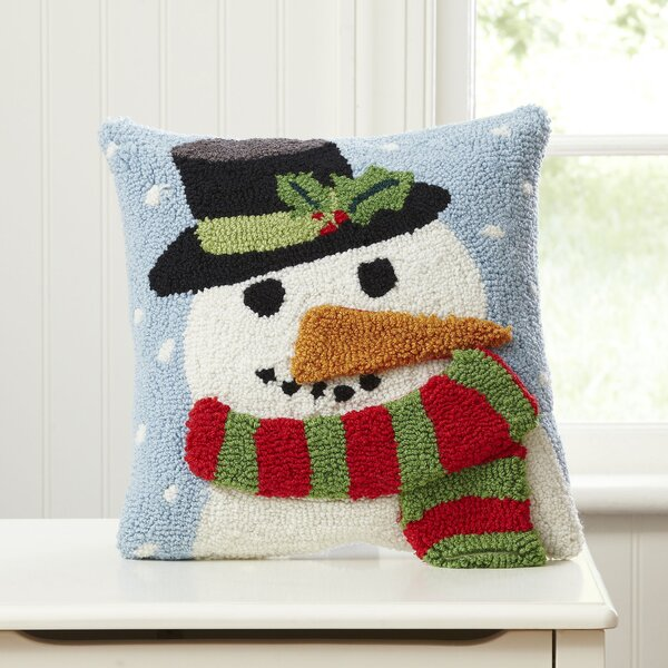 Snowman Huggable Hooked Pillow by Birch Lane Kids™