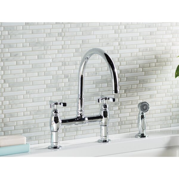 Parq Bridge Faucet with Side Spray by Kohler