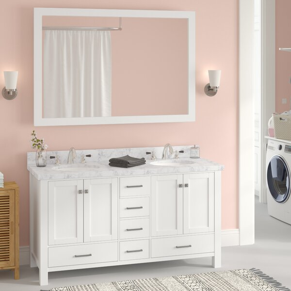 Marine 61 Double Bathroom Vanity Set with Mirror by Andover Mills
