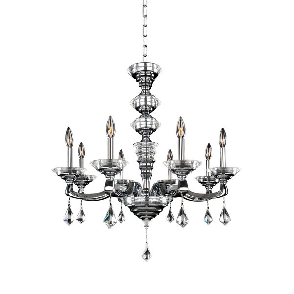 Freddy 8 - Light Candle Style Classic Chandelier By Rosdorf Park
