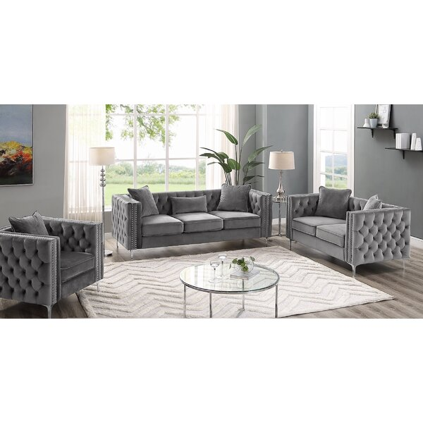 Niagara 3 Piece Living Room Set by Mercer41