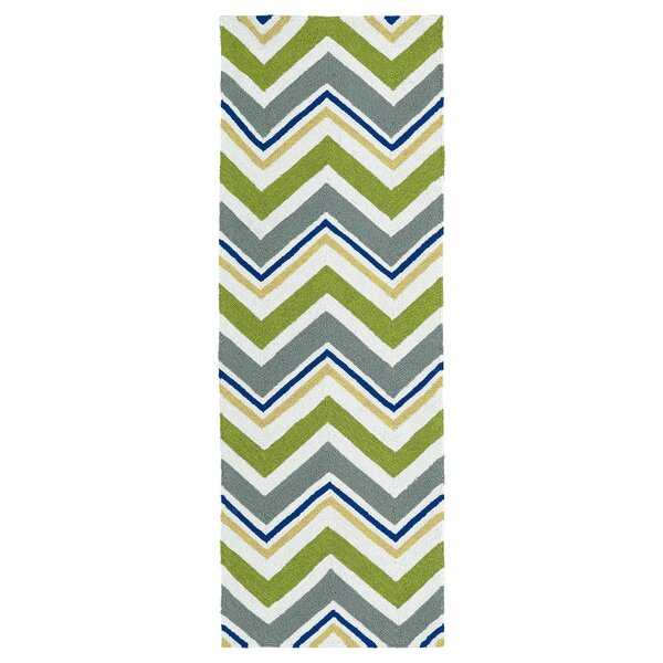 Alpine Bay Green Indoor/Outdoor Area Rug by Zipcode Design
