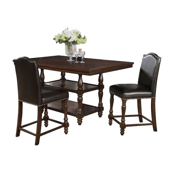 Langley 3 Piece Dining Set by Charlton Home Charlton Home