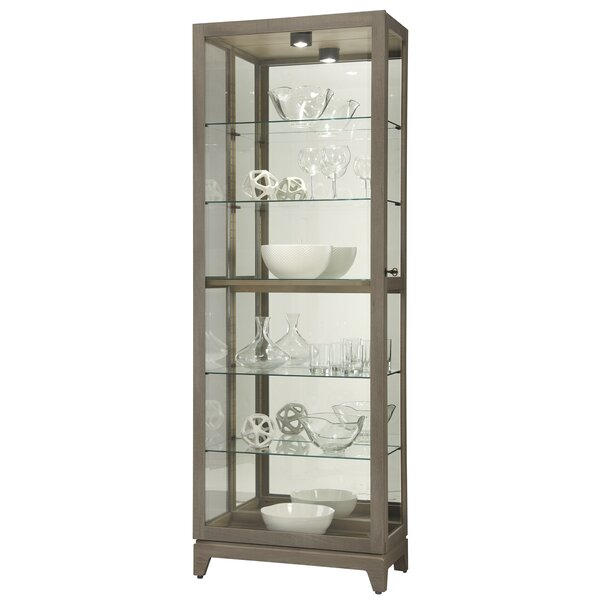 Ronaldo Lighted Curio Cabinet by Longshore Tides