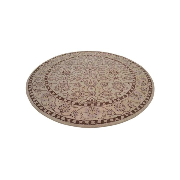 Selma Hand-Knotted Wool Cream Area Rug by Alcott Hill