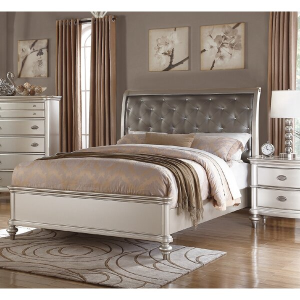Leahy Upholstered Sleigh Bed by Rosdorf Park