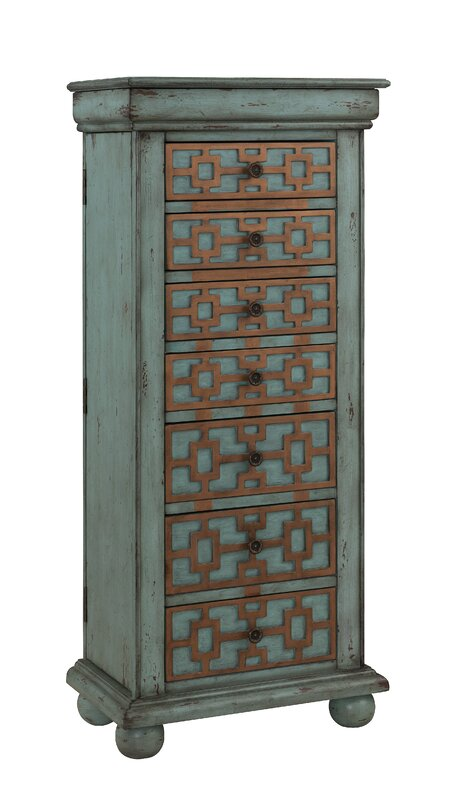 Charming Jewelry Armoire With Mirror