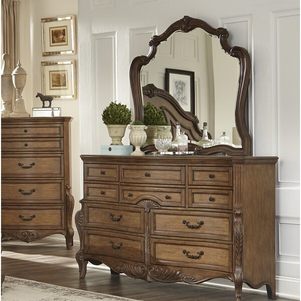 Petti 10 Drawer Dresser with Mirror by Astoria Grand