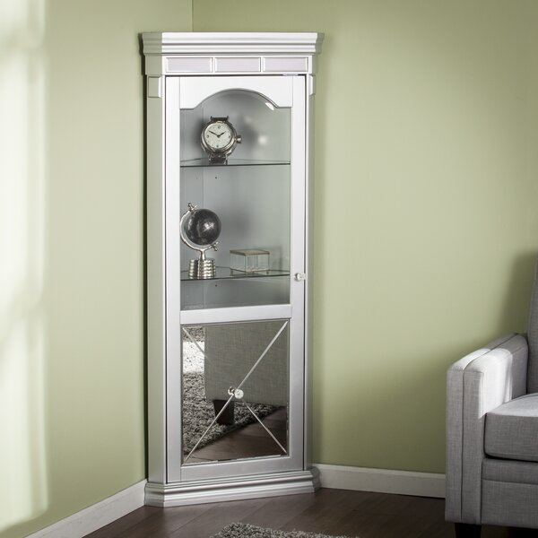 Adriana Lighted Corner Curio Cabinet by Willa Arlo Interiors