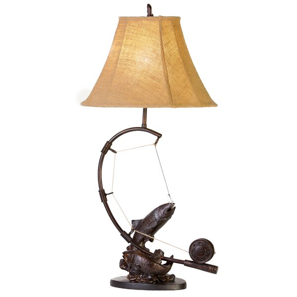 Asa Fly Rod Trout 30 Table Lamp by Millwood Pines