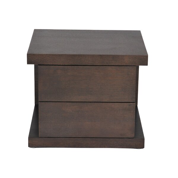 Thite 2 Drawer Nightstand by Wade Logan