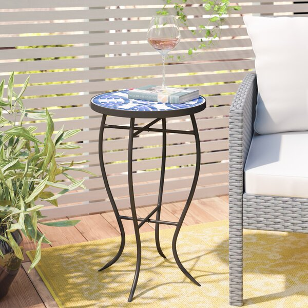 Leeds Outdoor Side Table by Charlton Home