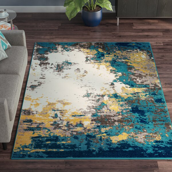 Shuff Blue/Yellow Area Rug by Wrought Studio