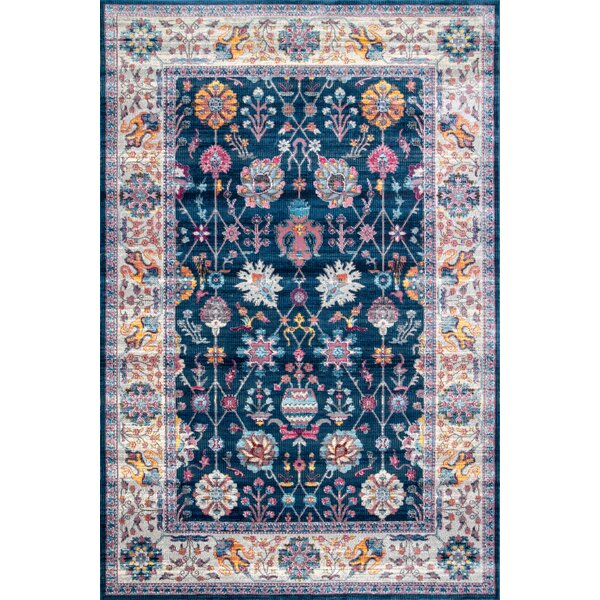 Hartwick Blue/Orange Area Rug by Charlton Home