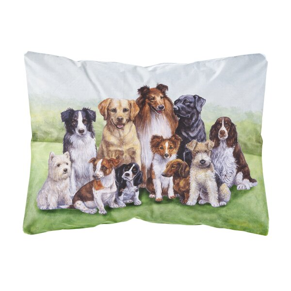 Schreiber Springtime Dogs Indoor/Outdoor Throw Pillow by Winston Porter