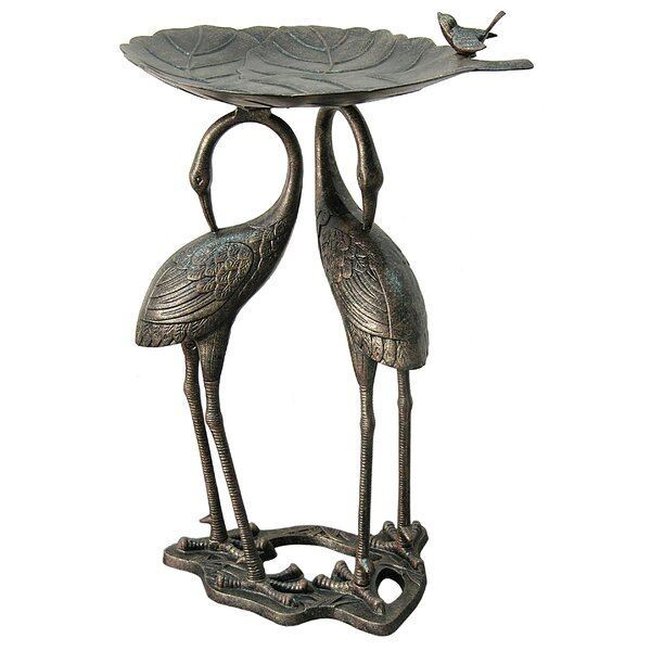 Heron Lily Birdbath by Innova Hearth and Home