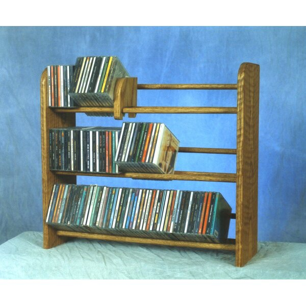 300 Series 165 CD Multimedia Tabletop Storage Rack by Wood Shed