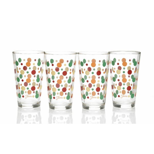 Dot 16 Oz. Tapered Cooler Glass (Set of 4) by Fiesta