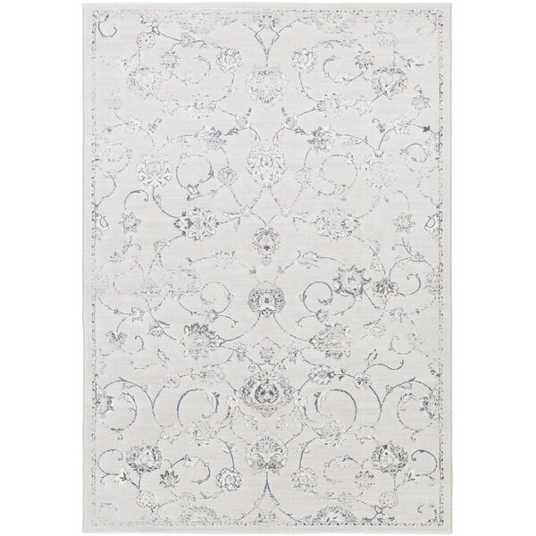 Pickrell Distressed White/Light Gray Area Rug by One Allium Way