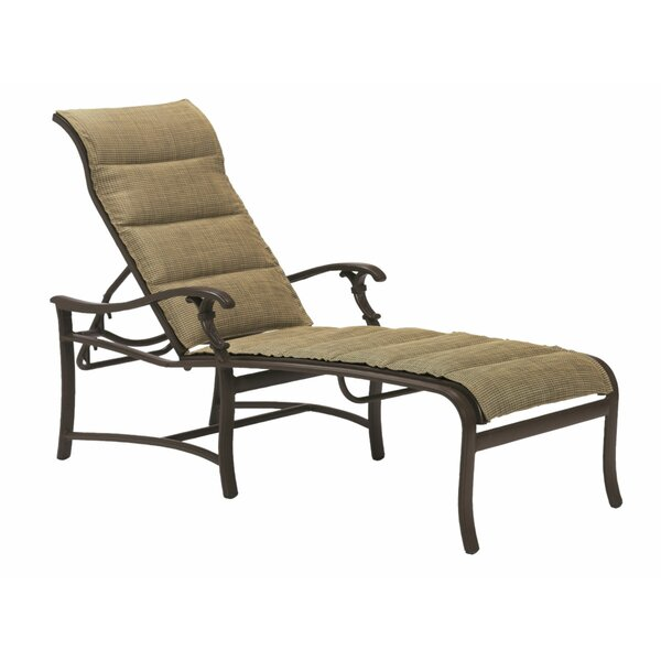 Ravello Padded Sling Reclining Chaise Lounge by Tropitone