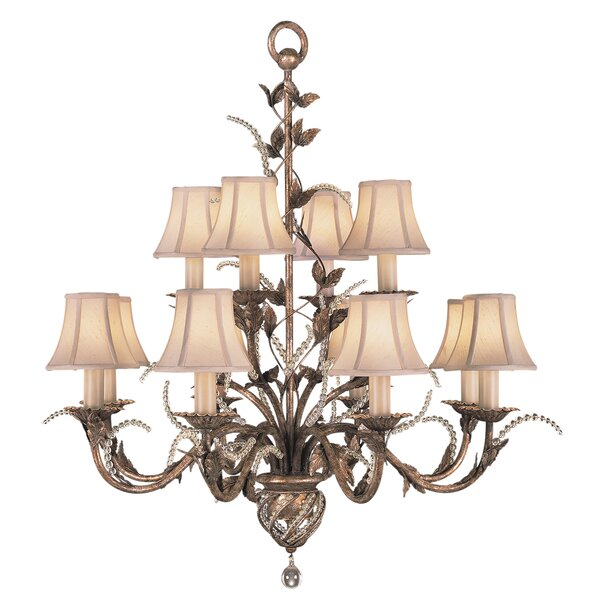 A Midsummer Nights Dream 12 - Light Shaded Classic  Chandelier By Fine Art Lamps