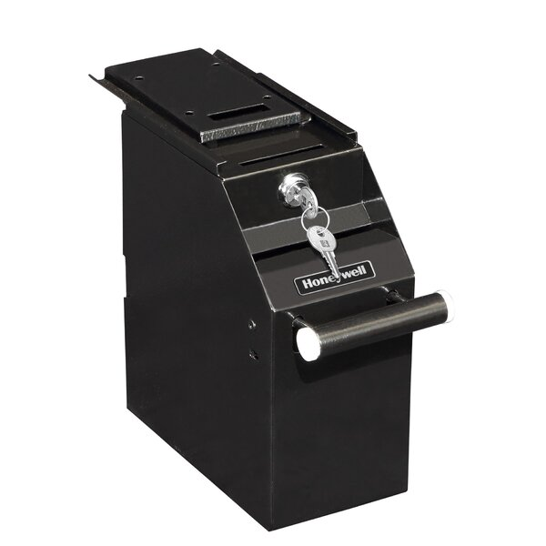 Small Under Counter Depository Safe with Key Lock by Honeywell