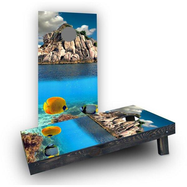 Coral Reef Cornhole Boards (Set of 2) by Custom Cornhole Boards