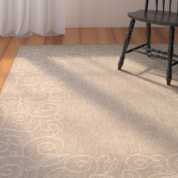 Little Italy Coffee/Sand Outdoor Rug by August Grove