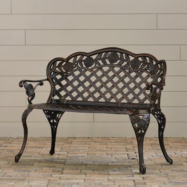 Madama Cast Aluminum Garden Bench by Astoria Grand