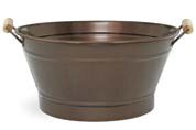 Halsey Round Metal Pot Planter by World Menagerie
