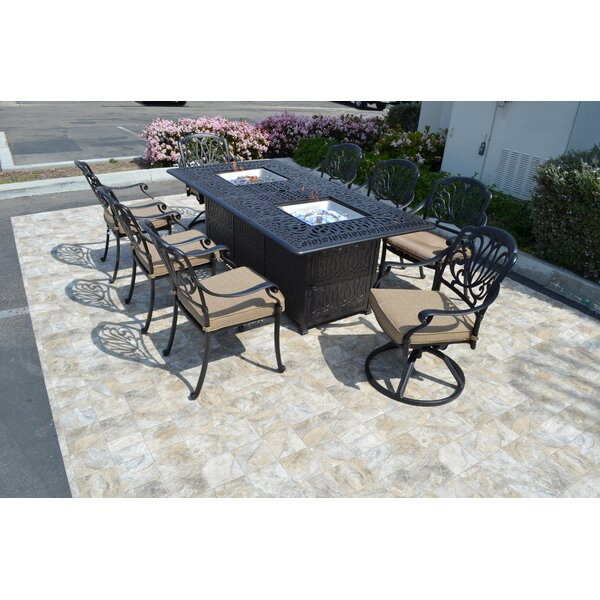 Kristy 9 Piece Dining Set by Darby Home Co