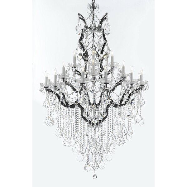 Alvan 25-Light Candle Style Tiered Chandelier By Astoria Grand