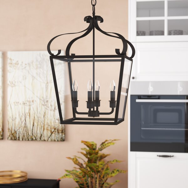 Weston 4 - Light Lantern Square Chandelier by Darby Home Co Darby Home Co