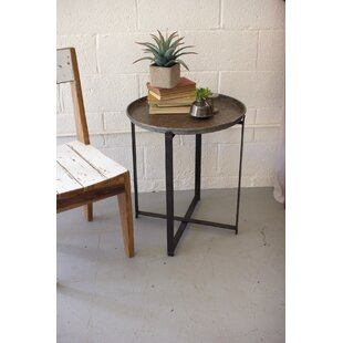 Perfect Ciara Recycled Round Metal Tray Table