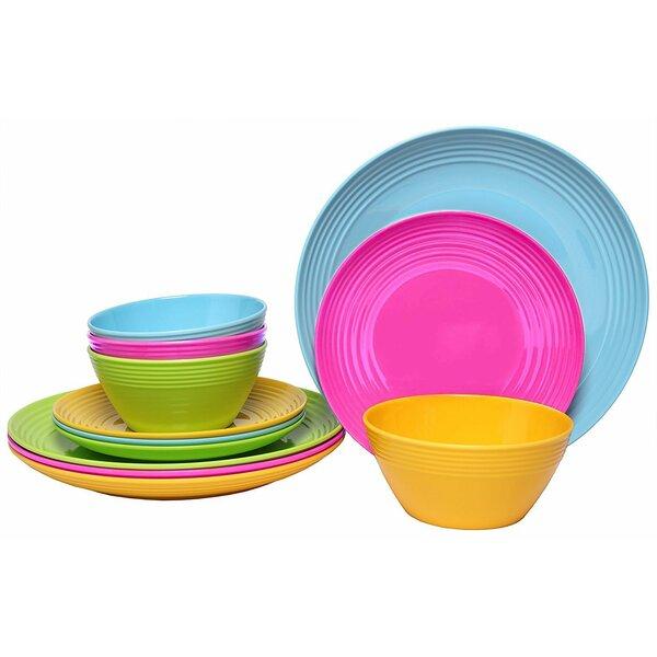 Waterfield Melamine Dinnerware Set, Service for 12 (Set of 3) by Latitude Run
