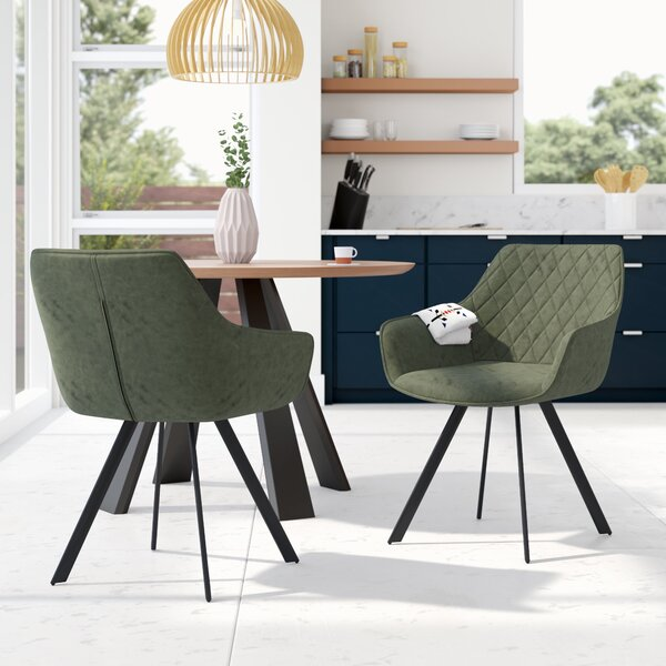 Craton Upholstered Dining Chair (Set of 2) by Modern Rustic Interiors
